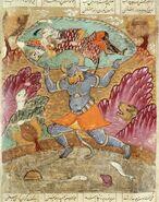Rostam carried by Akwan-Diwa