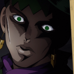 Rohan's first appearance, giving a creepy glare.