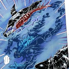 Dark Blue Moon cuts a shark in half