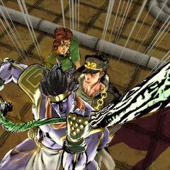 Jotaro during his DHA with Kakyoin, <i>EoH</i>