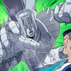 Okuyasu being attacked by a replica of <a href=