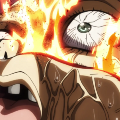 Shigechi dies after touching Killer Queen's fatal bomb.