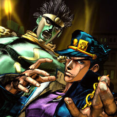 Star Platinum and Jotaro in <i>All-Star Battle</i>