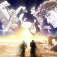 Joseph reflects with Jotaro on their journey and the loss of their comrades