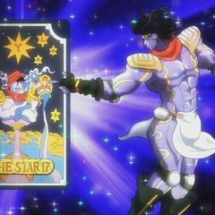 Star Platinum with the tarot card