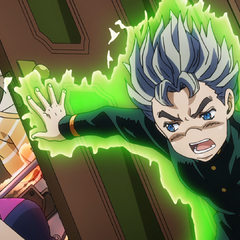 Koichi pushes Ayana and their mom out of the room
