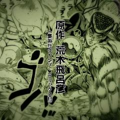 Josuke using Crazy Diamond in <a href=