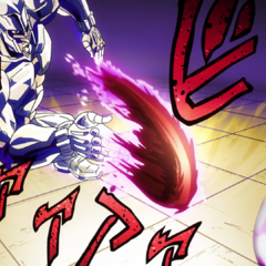 Flinging Josuke's blood at extreme speed, turning it into a sharp projectile.
