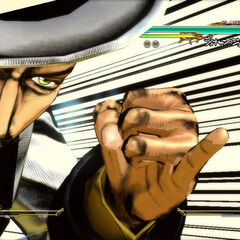 Zeppeli executing his GHA, <i>ASB</i>
