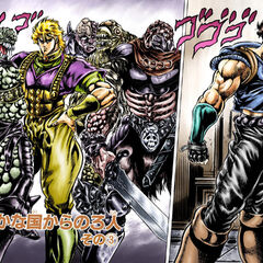Dio about to face Jonathan in their final battle