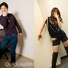 Araki and Shoko posing