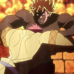 Jonathan and Dio fall into the burning <a href=