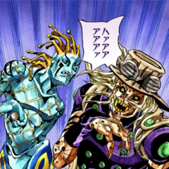Gyro and Dio transformed into Dinosaurs