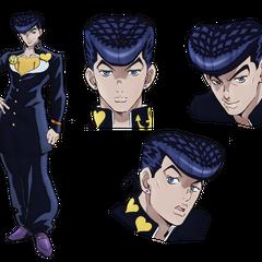 Key art of Josuke for the JoJo's Bizarre Adventure: Diamond Is Unbreakable anime.