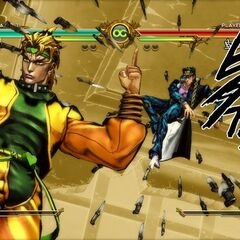DIO's HHA after throwing the knives, <i>ASB</i>