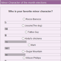 March 2013 Poll - Minor Character