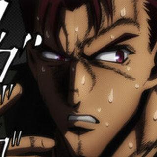 Yuuji's face drawn in JoJo Style