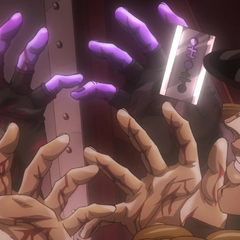 High Priestess lands an attack on Jotaro