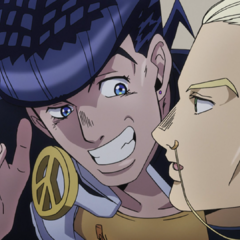 Josuke informs Mikitaka of his scheme to cheat Rohan out of money.