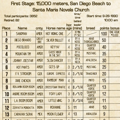 Results of the First Stage