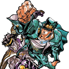 Colored with Star Platinum, for <i><a href=