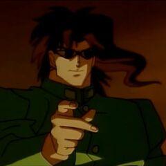 Kakyoin with his sunglasses in the OVA