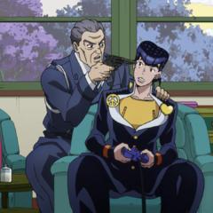 Josuke being threatened/pranked by Ryohei.