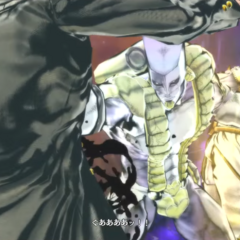 The World Over Heaven delivers a serious injury to Jotaro with a single punch.