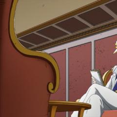 Jotaro investigates while lounging.