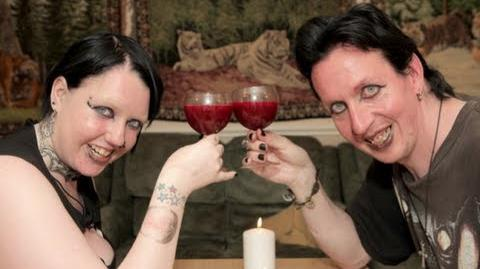 Real Life Vampire Couple Drink Each Other's Blood-0