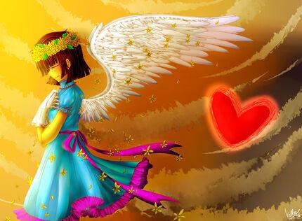Undertale angel frisk by killermm-d9ysaa6