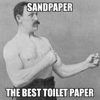 Overly Manly Man Sandpaper