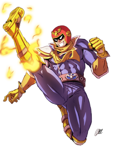 Captain falcon falcon kick speedpaint by onichan xd-d8pssct