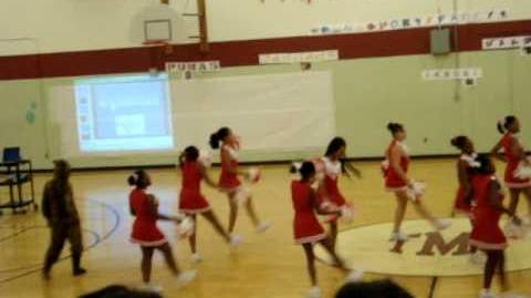 Talley middle school cheerleaders