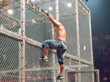 John Cena Climbs Hell In A Cell