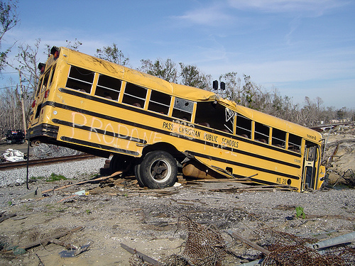 File:Post-Katrina School Bus.jpg
