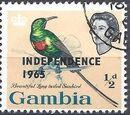 Gambia 1965 Birds Overprinted