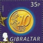 Gibraltar 2002 New coins in Europe d