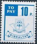 Gibraltar 1984 Postage Due Stamps d