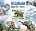 Burundi 2011 Elephants of the African Savanna SSg.jpg