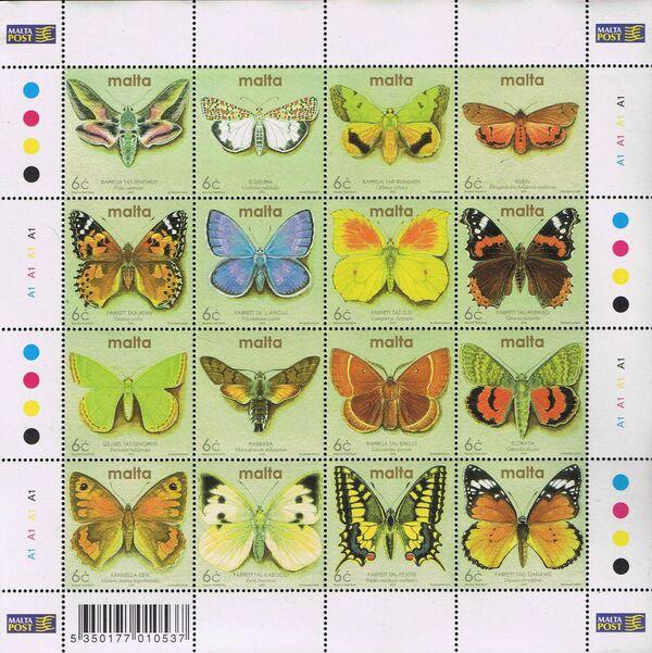 Malta 2002 Butterflies and Moths q