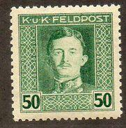 Austria 1917-1918 Emperor Karl I (Military Stamps) m