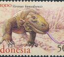 Indonesia 2000 WWF Komodo Dragon