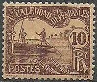 New Caledonia 1906 Men Poling (Postage due Stamps) b