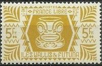 Wallis and Futuna 1944 Ivi Poo Bone Carving in Tiki Design l