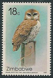 Zimbabwe 1987 Native Owls b