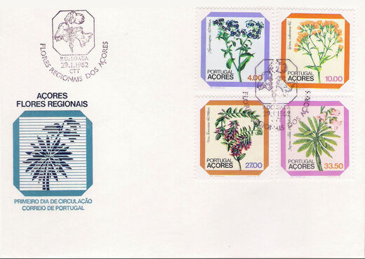 Azores 1982 Azores Flowers (2nd Issue) FDCa