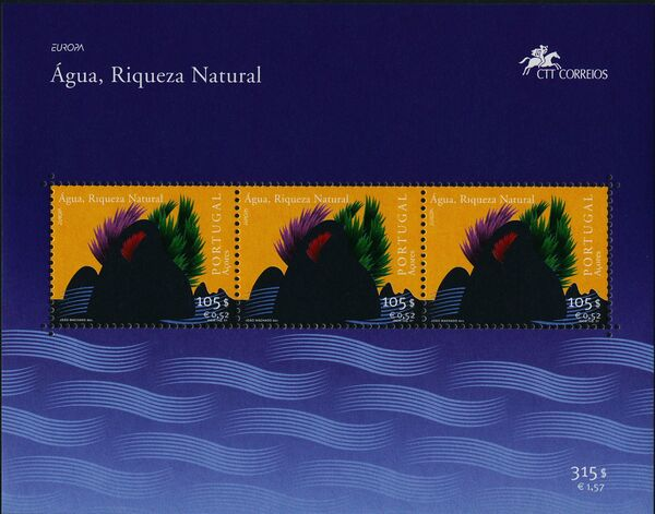 Azores 2001 EUROPA - Water, natural wealth c