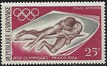 Gabon 1968 19th Summer Olympic Games Mexico City a