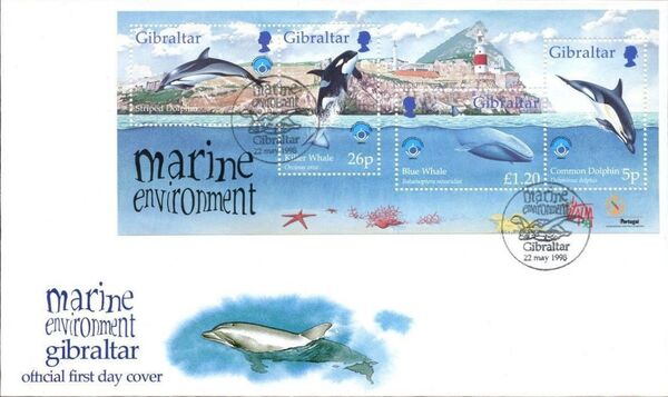 Gibraltar 1998 UNESCO International Year of the Ocean FDCa